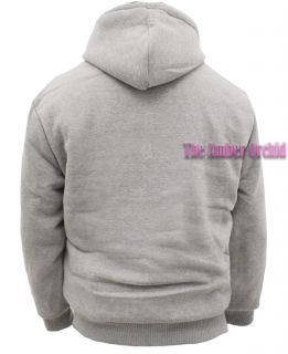 New Mens Zip Faux Fur Hoodie Hooded Plain Hood Sweatshirt Jacket Size s XXL