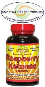 Dynamic Health Raspberry Ketones Complete 60 Capsules African Bush Mango Konjac