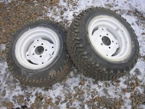 Gravely Garden Tractor Lawn Mower 810 Goodyear Rear Turf Tires Rims 23x8 50 12