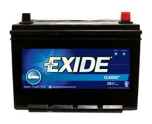 Exide 124RC Battery Std Automotive Exide Classic CCA 700