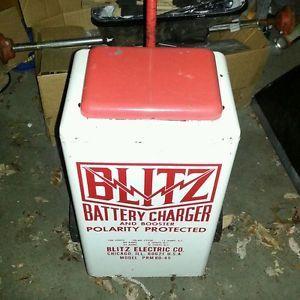 Antique 1950 60's Blitz Automotive Battery Charger