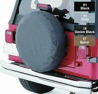 "New Jeep Wrangler Spare Tire Cover Black 27"" 29"" Tire"