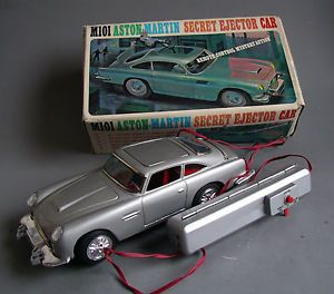Daiya Japan M 101 Aston Martin James Bond Box Vintage Battery Tin Toy Car 60s