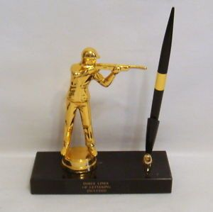 Metal Hunter Trophy Pen Set Trophy Pen Holder Gun Parts Hunting Gun Trophies