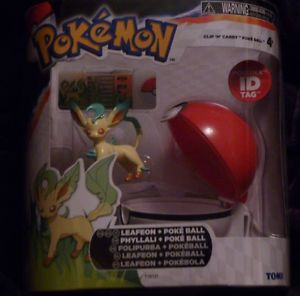 New Leafeon 2013 Pokemon x Y Clip 'N' Carry Poke Ball Pokedex ID Tag