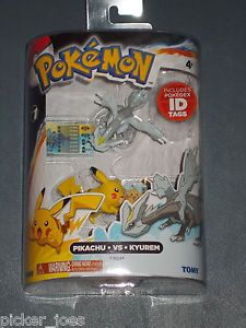New 2013 Tomy Pokemon Series 1 Pikachu vs Kyurem Pokedex ID Tags Figures Pack