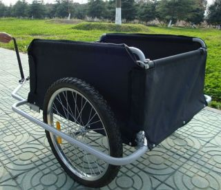 New Cargo Bicycle Bike Trailer Black Red Up to 100kg Weather Resistant Cover
