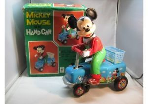 Mickey Mouse on Hand Car Battery Operated