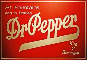 Magnet Fridge Vintage Beverage Dr Pepper Sign King Beverages
