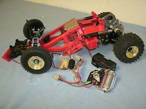 Vintage RC Tamiya Monster Beetle Parts Buggy Frame Parts Wheels