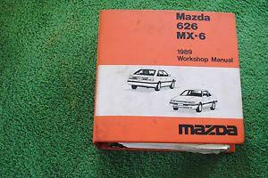 Mazda Factory Repair Manual and Wiring Diagram 1989 626 MX6