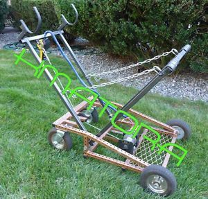 Self Raising Racing Kart Lift Stand Electric with Casters Wheels Stand 1 of 2