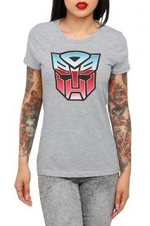 Transformers Autobot Logo Girls T Shirt Plus Size