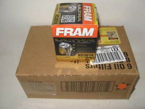 Fram XG3614 Ultra Guard Synthetic Oil Filter Case 6 Six 15K Protection
