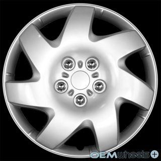 "4 New Silver 16"" Hub Caps Fits Chrysler Mini Van Car Center Wheel Covers Set"