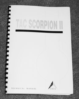 New Amek Tac Scorpion II Manual Full Technical Manual