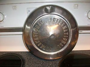 """Vintage IHC Hubcaps International Truck Chrome Hubcaps Mid 50 s Mid 60 s 10 5"""""""