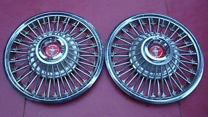 1967 1968 Ford Mustang Wire Spoke Hubcaps Wheel Covers