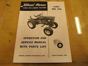 Wheel Horse 606 656 Tractor Operation Service Parts Manual