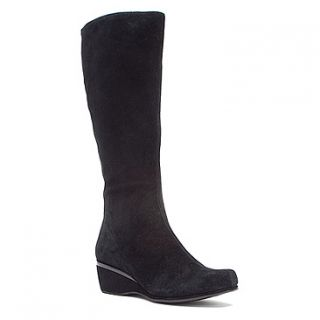 Aetrex Vanessa Tall Wedge Boot  Women's   Black Suede