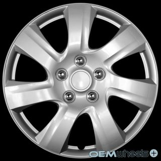 "4 New Silver 15"" Hub Caps Fits Hyundai SUV Car Stock Center Wheel Covers Set"