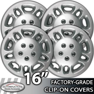 "1998 2007 Dodge Caravan 16"" Silver Clip on Hubcaps Wheel Covers"
