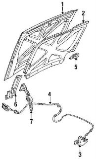 Hood Release Cable Ford Bronco F150 F250 F350 92 93 94 95 96