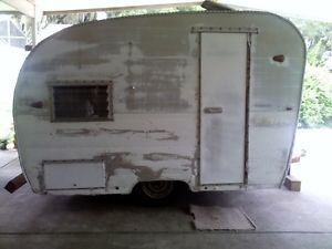 Vintage 1955 Zipper camper Canned Ham Vintage Campers Vintage Travel Trailers