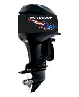 Custom Mercury Flame US Flag Outboard Decals Graphics Motor Boat