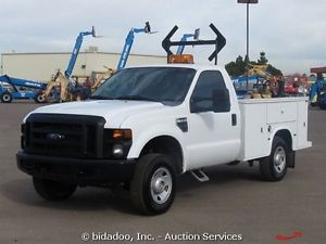 2008 Ford F250 4x4 Utility Service Truck 5 4L V8 A T Cold A C 4WD 8' Bed