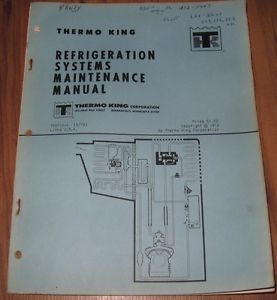 Thermo King Refrigeration Systems Service Repair Maintenance Manual TK5715 1