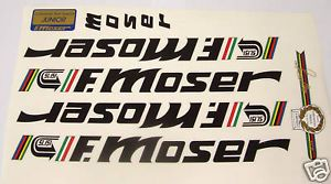 Moser 51 151 Decals for Vintage Bike