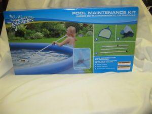 New Summer Escapes Pool Maintenance Kit Skimmer Pole Vacuum