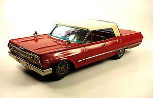 "1963 Chevrolet Impala 4 Door Hardtop 13"" Japanese Tin Car"