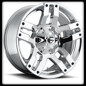 """20"""" Fuel Pump D514 Chrome Rims 33x12 50x20 Toyo Open Country M T Tires Wheels"""