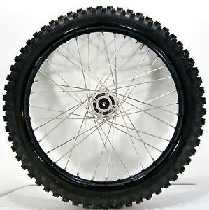 "New Chinese Dirt Bike 250cc Front 19"" Black Wheel w Bearing Tire 70 100 19"
