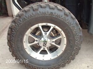 Polaris RZR 14 in ITP SS Wheels and Dot Super Swamper Tires 14x9 5x27