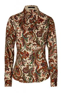 Nude/Fir Green Multicolor Patterned Blouse by ETRO