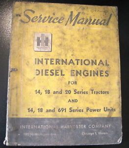 International 14 18 691 Series Power Units Diesel Engines Service Manual