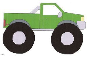 Monster Truck Counted Cross Stitch Pattern