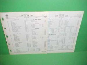1941 1942 1959 Nash Hudson Metropolitan Rambler Ditzler Car Paint Color List