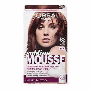 Loreal Paris Sublime Mousse 66 Light Auburn Brown Hair Color