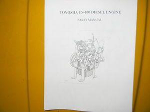 Toyosha C 100 Diesel Engine Parts Book