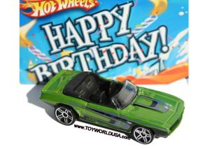 2010 Hot Wheels Wal Mart Happy Birthday 1969 Chevy Camaro Convertible