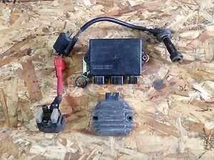 2 2001 yamaha raptor 660 electrical parts cdi coil rectifier starter  relay