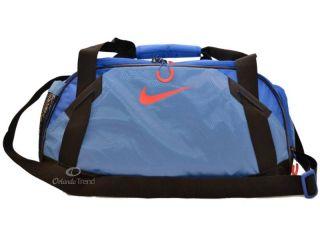 Nike Duffel Bag Women Tarpaulin Varsity Girl Medium Black Blue Gym
