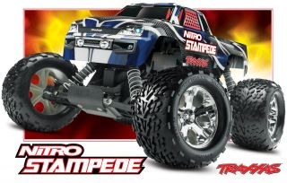 RC Monster Truck Traxxas Nitro Stampede 50s Chevy RTR Custom Painted 33 MPH
