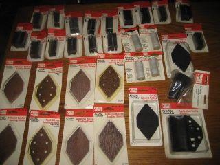 Huge Lot of 32 Accessories for Porter Cable Profile Sander Model 444 9444