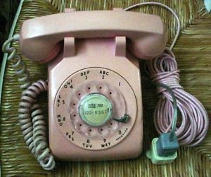 Vintage Bell System Pink Rotary Dial Telephone Western Electric 500 Desk Phone