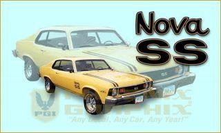 1974 Chevrolet Nova SS Super Sport Decals Stripes Kit